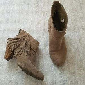 American Eagle Outfitters fringed leather booties